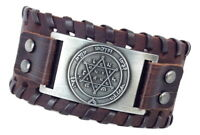 New Bracelet Leather from israel Jewish Star of David / Magen David Judaica