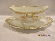 Theodore Haviland Limoges France Two Handle Gravy Boat