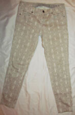 BLANK NYC snake python tan print sateen twill skinny very stretchy jeans 28   **
