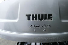 THULE Atlantis 200 roof box & THULE roof bars - Dual opening in used condition