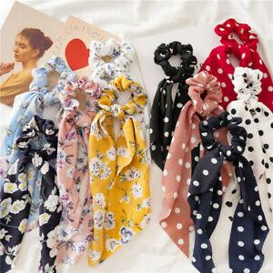 10x foulards à pois floral chouchou bowknot foulard élastiques bandes de