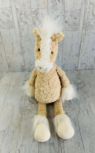 "Jellycat Dainty Palomino Pony Horse Tan White Plush Stuffed Rare HTF Retired 18"""