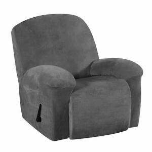 1-Piece Fabric Recliner Slipcovers Soft Wingback Sofa Cover Dirt-proof