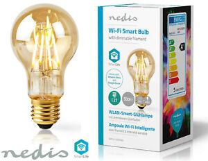 Nedis Smart Life WiFi LED Dimmable Filament Smart Bulb 5W = 40W Alexa Google E27