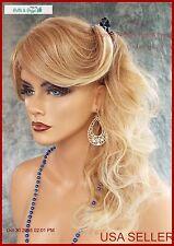 LONG SOFT CURLS WIG,LACE FRONT HEAT SAFE, SKIN TOP ☆T27.613 GORGEOUS STYLE 1104