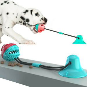 emPAWrium Interactive Dog Toy Suction Cup Self-Play Rubber Ball Food Dispenser