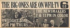 1965 Tv Ad~Liz Montgomery on The Twilight Zone~Wfil Newsmakers~Philadelphia