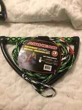 Airhead 3 section Performance Wakeboard Rope. 65 feet 16 Strand Low Stretch