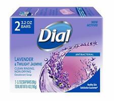 Dial Antibacterial Lavender & Twilight Jasmine Soap 3.2 oz Bar 2 Pack