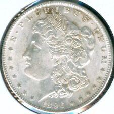 ">1896-P  MORGAN SILVER DOLLAR COIN> Scarce 1896-P ""AU/BU"" Philadelphia Mint COIN"