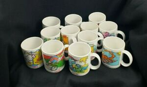 """Vintage 1983 Avon """"Sips And Signs"""" Complete Set of Astrology Zodiac Mugs 12 pcs."""