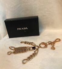 "New In Box PRADA ROBOT EDWARD TRICK Gold Chain ""GIRL"" Metal Keychain Bag Charm"