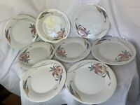 """Anatole China 8 Dinner Plates 10 1/4"""" Japan Floral Beautiful Condition"""