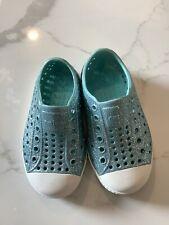 Native Children's Water Shoe 7 Sparkle Blue