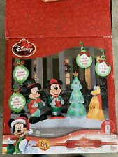 Rare Disney Mickey & Friends Christmas Inflatable 7.5' airblown lightshow