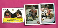 3 X 1988-89 OPC CANADIENS PATRICK ROY GOALIE STICKER CARD (INV# D0383)
