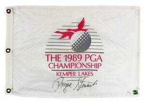 Payne Stewart Authentic Signed 1989 PGA Championship Pin Flag PSA/DNA #T11392