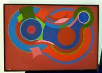 Serge Astorg 1979  Peinture abstraite sur toile .  Painting on Canvas