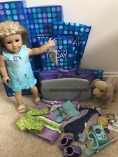 American Girl Kailey Collection - Doll, Wetsuit Bikini, Sandy, Camera, Towel