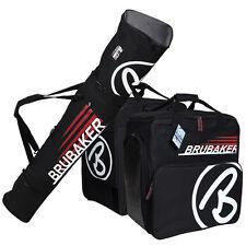 Black Red Ski Bag Combo CHAMPION for Ski up to 190 cm Poles, Boots + Helmet