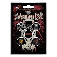 Official Licensed Merch 5-BADGE PACK Metal Pin Badges WEDNESDAY 13 Condolences