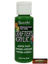 M01466 MOREZMORE DecoArt SHAMROCK GREEN Crafter's Acrylic All Purpose Paint IZB