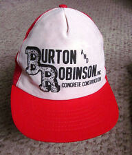 BURTON ROBINSON Concrete Construction trucker cap Northern Virginia beat-up hat