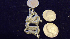 bling pewter stonehenge english DRAGON pendant charm leather hip hop necklace