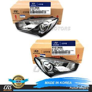 GENUINE Halogen Headlight LH & RH for 2013-2016 Hyundai Genesis Coupe 921012M500