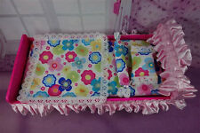 Blythe Barbie Handcrafted Accessory Furniture Set Bed for1:6 scale dollhouse # 2