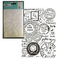 Postmarks Courrier Embossing Folder Kaisercraft Folders Mail Stamps Travel EF229