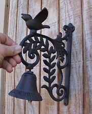New listing Bird Bell Cast Iron Wall Mount Garden Door Country Rustic Decor Primitive #109