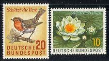 Germany 1957 Birds/Flower/Nature/Conservation 2v n29608