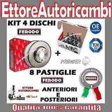 KIT DISCHI + PASTIGLIE FERODO ANTERIORI E POSTERIORI ALFA ROMEO 147