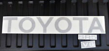 TOYOTA TRUCK TAILGATE LOGOS DECAL 89-95 CHARCOAL MET pickup