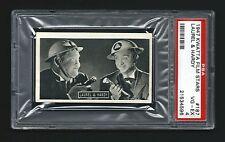 PSA 4 LAUREL & HARDY 1947 Kwatta Chocolates Film Stars Card #187 RARE