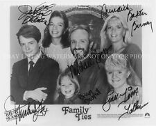 FAMILY TIES CAST AUTOGRAPHED 8x10 RP PHOTO GREAT SHOW