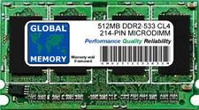 512 MB DDR2 533 MHz PC2-4200 214-PIN Microdimm Memoria RAM Para Portátiles