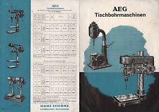 BERLIN Werbung 1939 AEG Allgemeine Elektricitäts-Gesellschaft Tischbohrmaschine