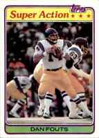 1981 Topps #153 Dan Fouts HOF San Diego Chargers / Oregon Ducks SUPER ACTION