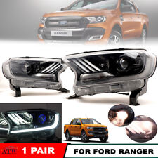 Mustang Style Projector Head Lamp Light LED Use in 14+ Ford Ranger Wildtrak T6