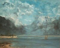 Impressionism Gustave Courbet Seascape with a Ship Fine Art Print CANVAS 8x10