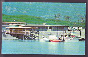 VALDEZ ALASKA AK Wyatt House Dock Scene Boats Old Vintage Postcard