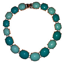 Stunning  Faux  Turquoise  Cabochones Necklace  by Replica Collection