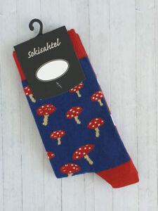 Womens Mushroom Socks (Pair) Fun and Novelty Socks