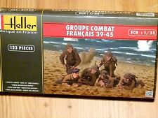 Heller 1:35 French Combat Group 1939-1945 WWII Military Figures Model Kit