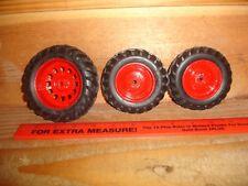1/16 Red Metal Rim Tires and Rims