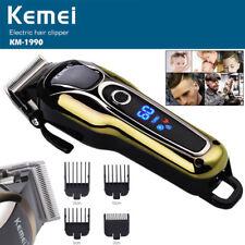 Rechargeable Hair Trimmer Clipper Shaving Shaver LCD Kit Removal Kemei KM-1990