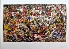 Jackson Pollock Convergence No 10  Drip Style Painting  Offset Lithograph 14X11