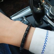 Luxury Anil Arjandas Mens Cuff Charms Bracelet & Bangles White Agate CZ Stoppers